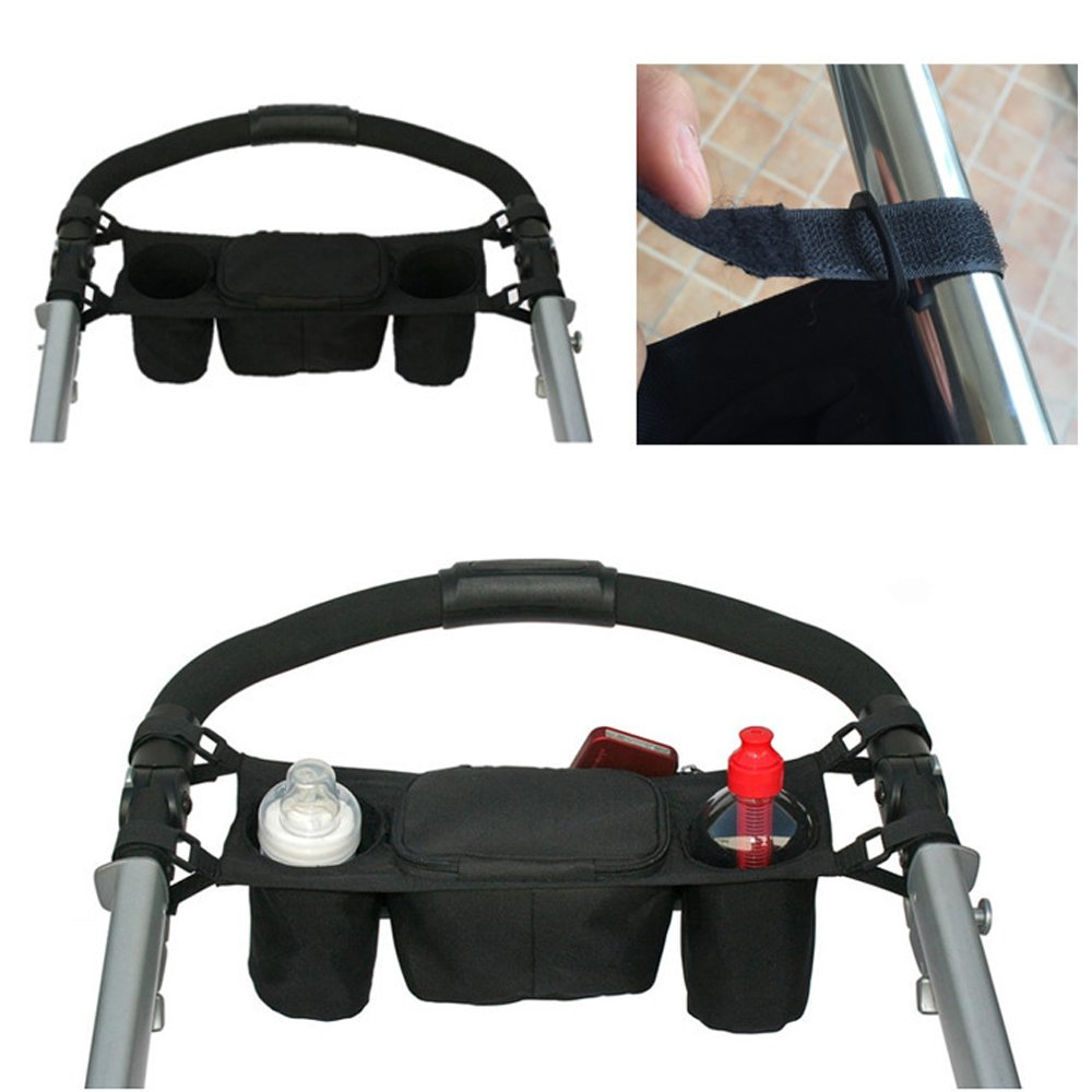 Brand New Cup/ Bottle/ Drink/ Food Holder Storage Bag Organizer for Pram Pushchair The Best Kingdom