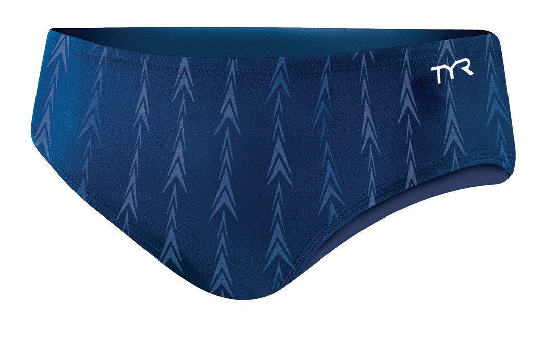 TYR Men's Fusion 2 Racer Swim Suit (Navy, 32 -Inch) by TYR