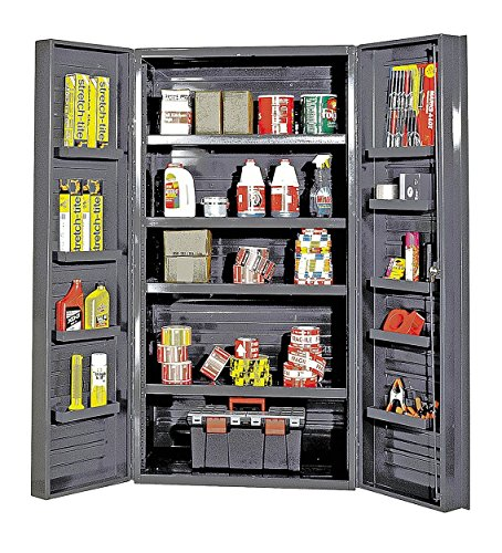 - Quantum Storage Systems QSC-36-4IS-12DS Gray Jumbo Welded Storage and Security Cabinet, 36
