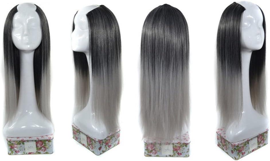 Peluca de pelo sintético para mujer con encaje en forma de U, pelo ...