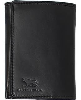 4b57289163b4 MORUCHA Grand Portefeuille Noir pour Homme   Blouson en Cuir Véritable  Nappa Souple RFID   Grande