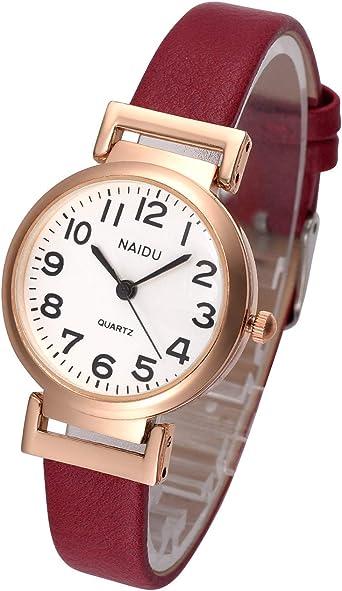 Amazon.com: Top Plaza - Reloj de pulsera analógico de piel ...
