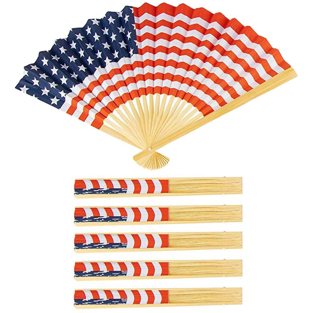 Amazon.com: Abanicos de mano plegables con bandera de ...