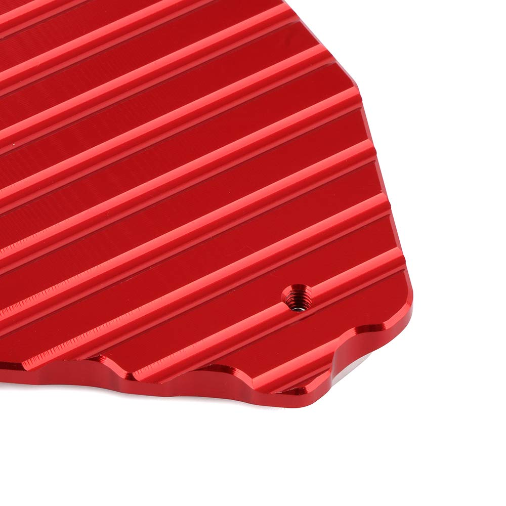 CNC Motorcycle Kickstand Foot Side Stand Extension Pad Plate For CRF1000L Africa Twin 2016 2017 2018 Red