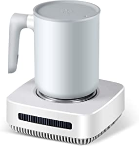 Coffee Warmer Cup Cooler Desktop 2in1, Coffee Tea Drinks Mug Warmer or Cooler Desktop, 31? - 46? Heating and Cooling Beverage Plate For Water,Milk,Beer,Cocoa