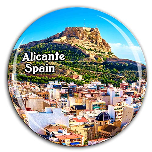 - Santa Barbara Cathedral Alicante Spain Fridge Magnet 3D Crystal Glass Tourist City Travel Souvenir Collection Gift Strong Refrigerator Sticker