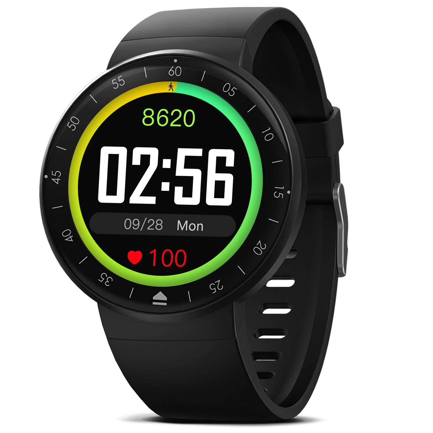 Smart Watch with 9 Sport Mode, IP68 Waterproof Bluetooth Fitness Tracker with Heart Rate Sleep Monitor Calorie Counter Touch Screen Pedometer for ...