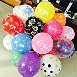 GrandShop 50330 Assorted Printed Toy Balloons Multicolor (Pack of 50 pcs)