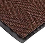 NoTrax 118 Arrow Trax Entrance Mat, for Main Entranceways and Heavy Traffic Areas, 3' Width x 4' Length x 3/8'' Thickness, Autumn Brown