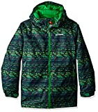 Columbia Boys Wrecktangle Jacket, X-Large, Cyber Green Matrix Print