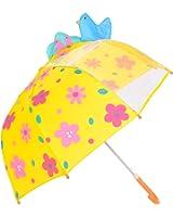 Rainbrace Umbrella Kids Fashion Childrens Dome Rain Umbrella 37-Inch for Boys and Girls with Clear Window Panel