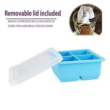 MAIGG Cubito de hielo de silicona cubierta impermeable - Moldes de la Bandeja de Hielo -