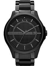 Armani Exchange Men's Quartz Watch analog Display and Stainless Steel Strap, AX2104