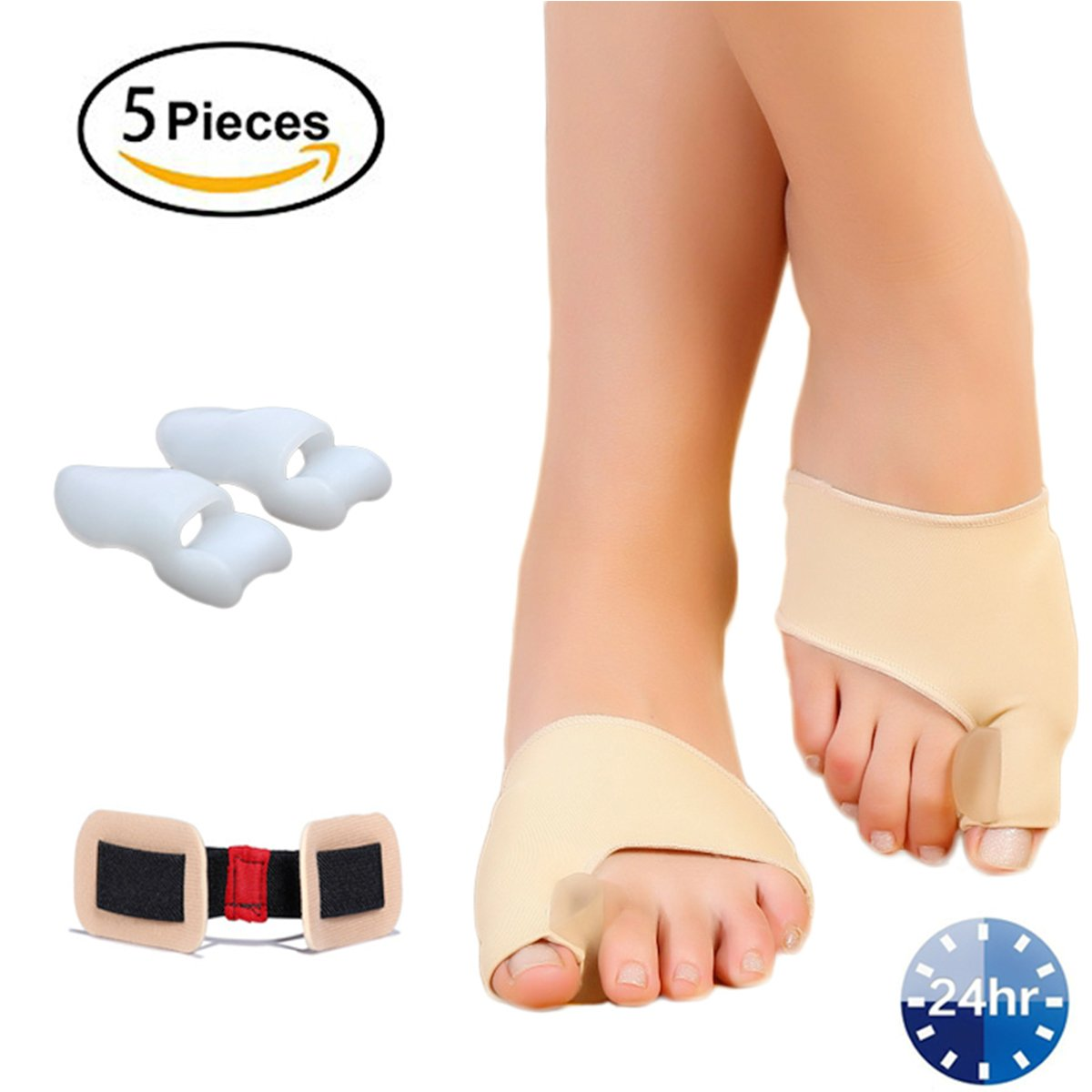 Bunion Corrector, Gel Bunion Relief Splint Protector Sleeve Kit for Women & Men, Orthopedic Bunion Brace Cushions Treat Hallux Valgus, Big Toe Joint and Hammer Toe to Relief Foot Pain