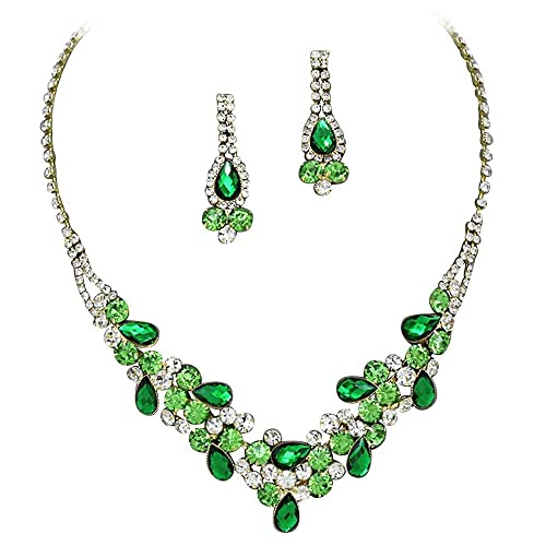 Well-known Amazon.com: Elegant Emerald Green W Lime Green Accents V-Shaped  LN11