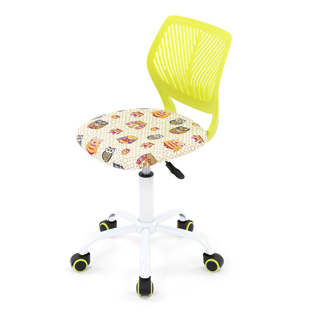 IKAYAA Adjustable Fabric Teen Child Desk Chair Swivel Computer Task Chair, Green