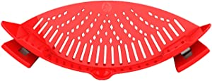 Clip On Pasta Strainer Silicone - Universal Fit for all Pots and Bowls | Snap On Drainer for Pasta, Meat, Vegetables, Fruit | Silicone Colander for Kitchen | Easily Drain Food | Space Saving by Arlig