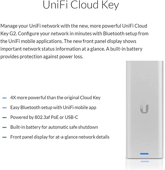 UniFi Cloud Key Gen2 UCK-G2 Powerful Remote Cloud Management with 2 GB RAM