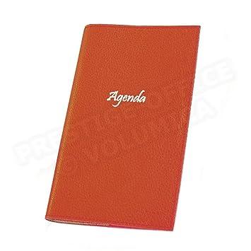 Agenda de bolsillo Piel Rojo Beaubourg: Amazon.es: Oficina y ...