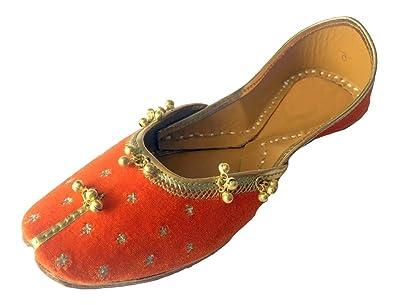 Step n Style Schritt N Style Damen Panjabi Jutti Ethnic Khussa Schuhe Pakistanischen Indischen Handgefertigt Schuh, Rot - Rot - Größe: 36