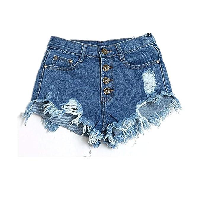 Amazon.com: Charberry - Pantalones cortos vaqueros para ...