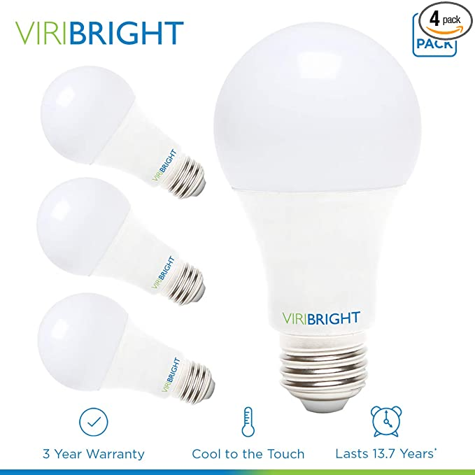 ... Lighting 751619-4 Low Voltage LED, Viribright 12-24V DC, (10W) 75 Watt Equivalent Light, 6000K Daylight, Edison Bulb Medium Base E26, 1000 lumens-4 Pack