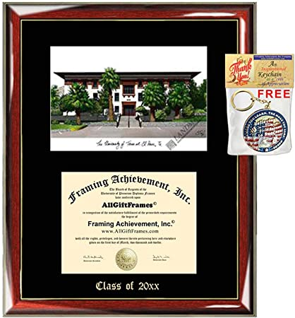 Amazon Com University Of Texas El Paso Diploma Frame Emboss Lithograph Utep Graduation Degree Framing Certificate Holder College University Diploma Frames Sports Outdoors