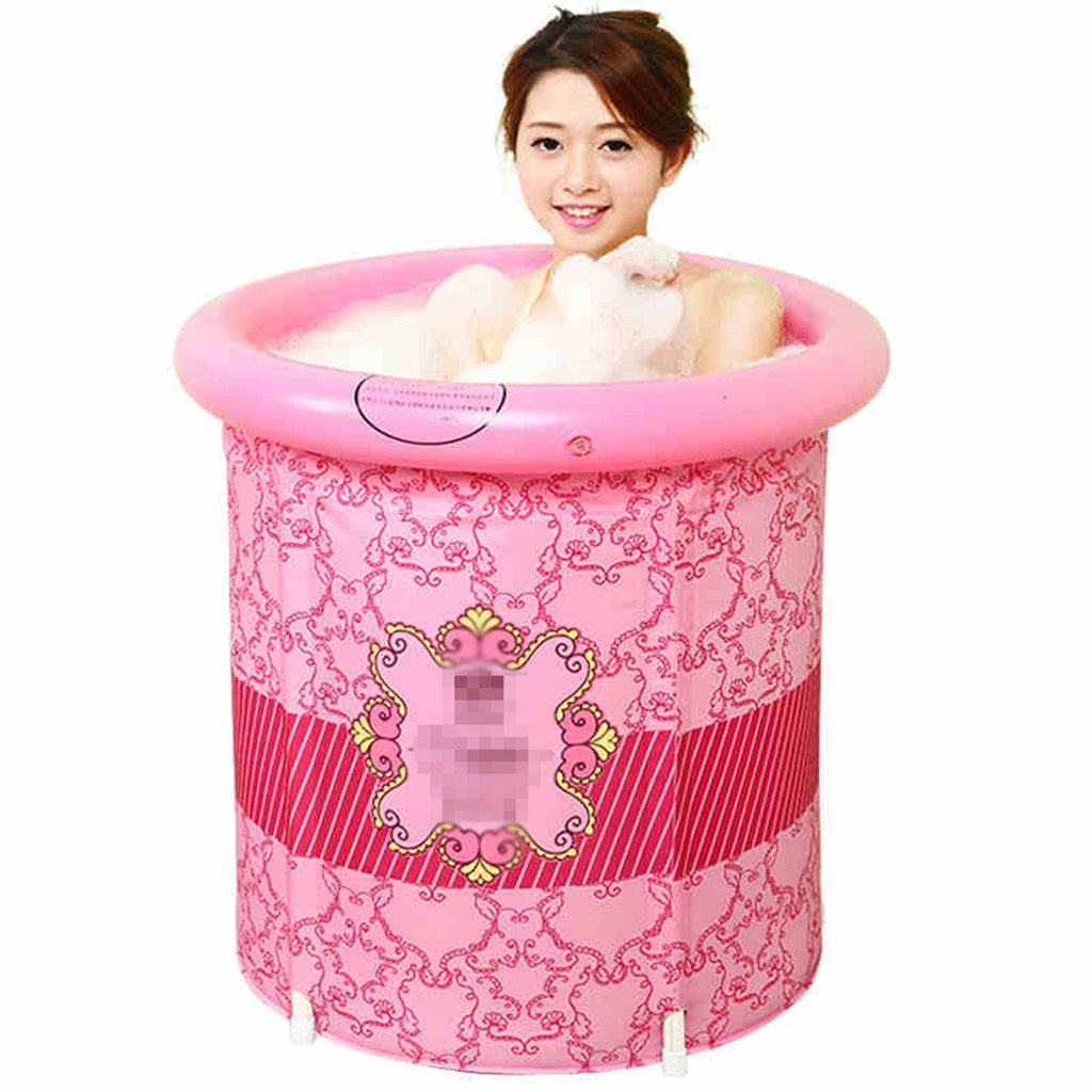 LQQGXL,Bath Thickening insulation folding adult Tub65 70cm186 Inflatable bathtub ( Color : Covered , Size : 6570cm )