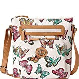 Aurielle-Carryland Butterfly Print Crossbody (Multi)