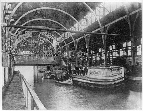 Photo: Foss-Schneider Brewing Company,1888 Cincinnati Expo.,OH,fireboat,B.S. WYDMAN