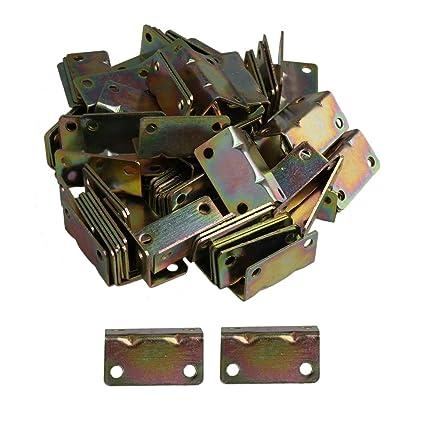 BQLZR 38 x 20 mm soporte de esquina de hierro articulado ángulo derecho sujetador sofá instalación