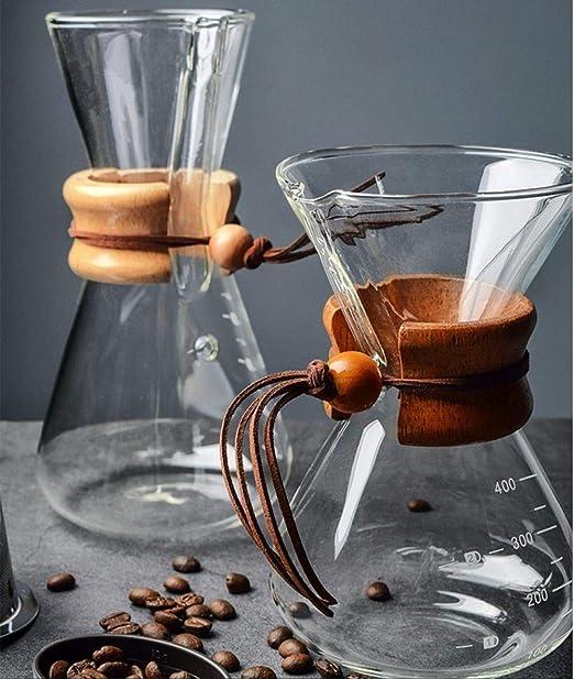 Cafetera de vidrio aparato de café hecho a mano set olla sin ...