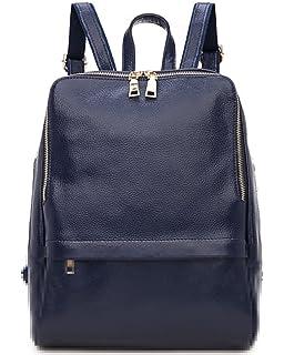 6fb402e9ea60e Greeniris Damen echtes Leder Rucksack Damen Mode Schulranzen für Damen