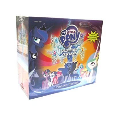 My Little Pony Collectible Card Game Celestial Solstice Exclusive Deluxe Set: Toys & Games