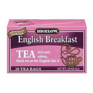 Amazon.com: Bigelow Desayuno Inglés Té 20 bolsas: Beauty