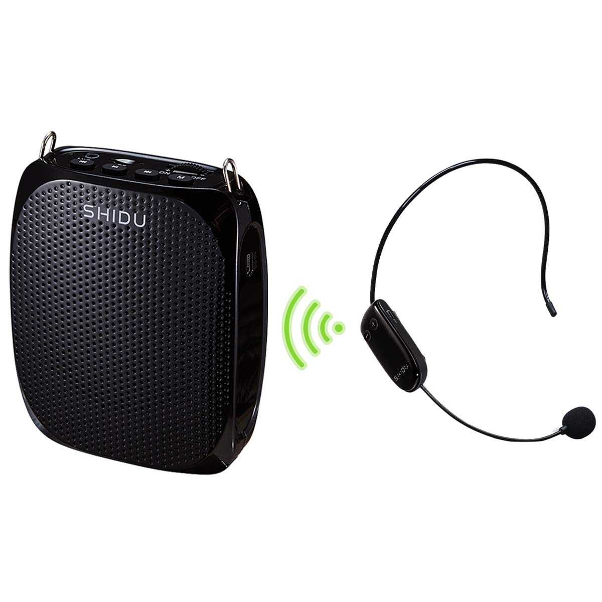 Wireless Voice Amplifier 10W 1800mAh Portable Mini PA Speaker with UHF Wireless Headset Microphone Hands-Free Rechargeable Classroom Microphone for Teachers Tour Guides and Presentations by HW HAOWORKS