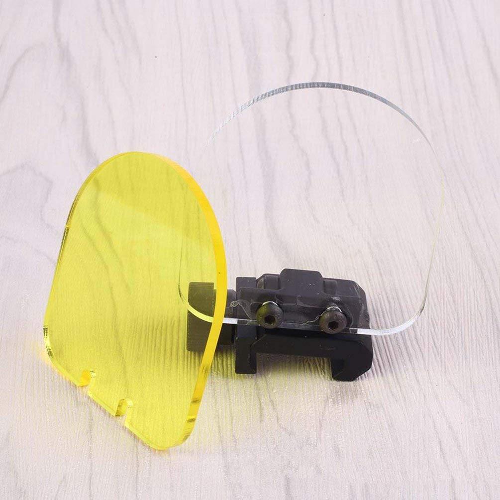 Protezione dello schermo dellobiettivo con lente di mira pieghevole pieghevole da 20 mm Protezione per gli occhi da tiro bianco, giallo e nero