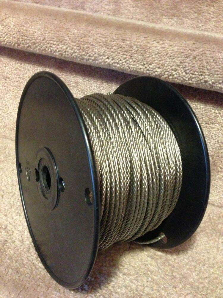 3/32'' Stainless Steel Wire Rope Cable - 7x19-500ft
