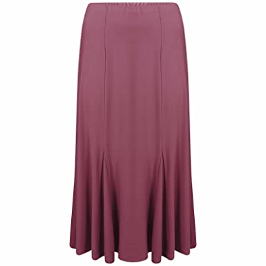 37f2c98b29 New Women Ladies Long Maxi ITY Godet Skirt Plus Sizes 18-20 to 30-32 ...