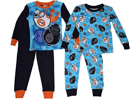 Lego Star Wars BB-8 Boys Cotton Pajamas 2-Pack 4-10 (