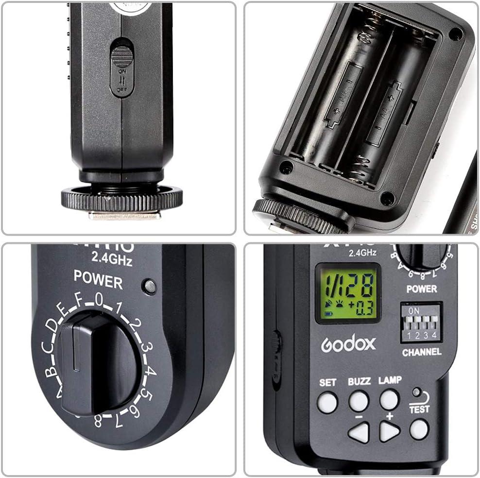 and DP Series Studio DE Quicker D QS Gemini GT Quicker Gemini GS QT Receiver for Godox Witstro AD360 AD360II-C AD360II-N GODOX XT-16 2.4G Wireless Radio-Controlled Flash Trigger Transmitter
