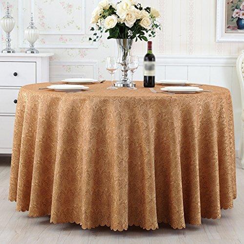 Marron 280cm diameter HJHY® Toile de table, Tissu de grande taille Tissu de table en tissu Simple Antifouling Modern Home Hotel - Rectangle   Rond - Blanc   Marron   Rouge étanche et étanche à l'huile ( Couleur   Marron , taille