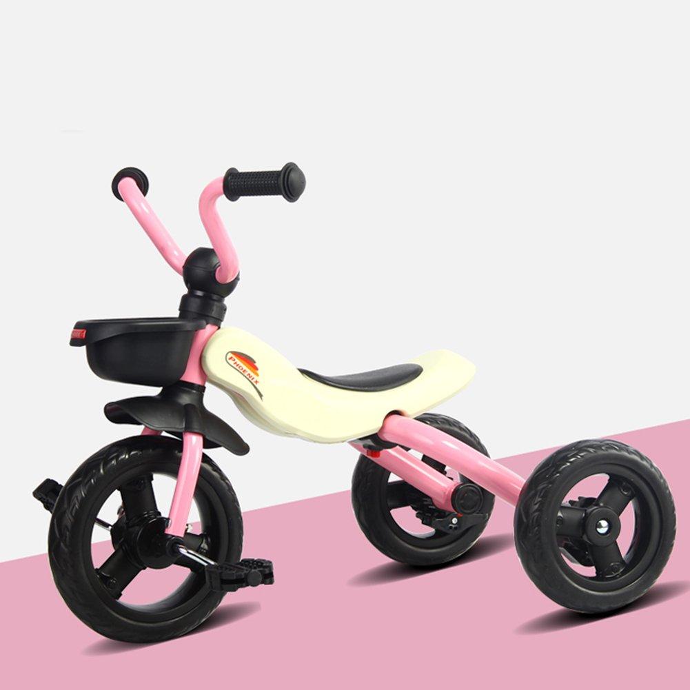 XQ 折り畳み式子供用三輪車軽量発泡ホイール1-3-5歳 子ども用自転車 ( 色 : ピンク ぴんく ) B07C6TBC92 ピンク ぴんく ピンク ぴんく