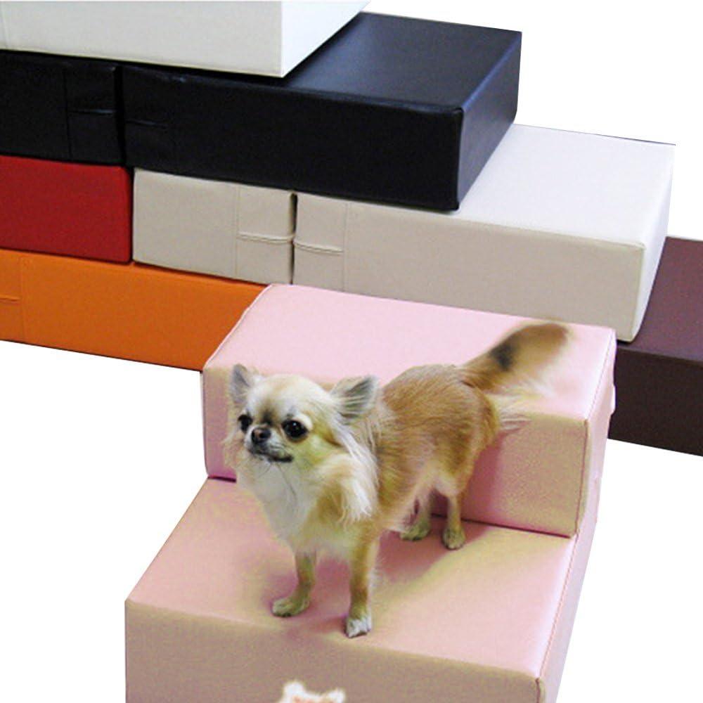 Escalera de piel sintética para mascotas, perros, gatos, escaleras, para perros pequeños, plegable, alfombrilla de cojín para cama con funda desmontable, producto para mascotas: Amazon.es: Productos para mascotas