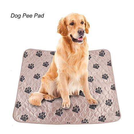 Delaman Dog Pee Pad Holder Lavable Perro Orina de Cama Orina Impermeable Alfombra Reutilizable para Mascotas