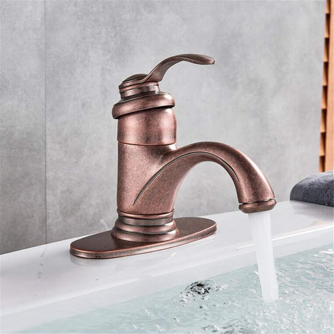 Faucet Washbasin Mixernew Special Roman Copper Bathroom Sink Faucet Waterfall Single Handle Mixer Tap Solid Brass Hot and Cold Water
