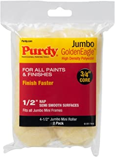 product image for Purdy 140624023 Jumbo Mini Golden Eagle Roller Replacements, 2-Pack, 4-1/2 inch x 1/2 inch nap