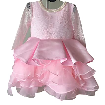 Bebé Girls Princess Party encaje de flores de rosa de ...