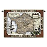 Design Toscano French Wine Country: Old World Map Wall Tapestry