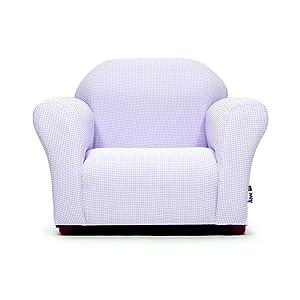 KEET Roundy Kid's Chair Gingham, Lavender